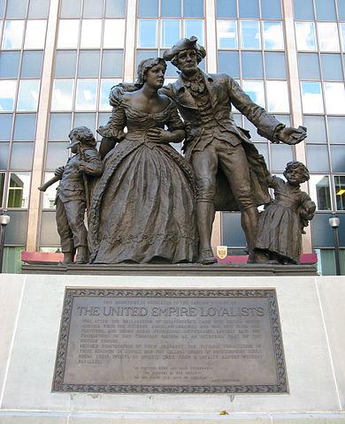 United Empire Loyalist statue and plaque