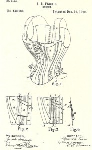 Patent granted Sherwood Ferris for improvements in corset design