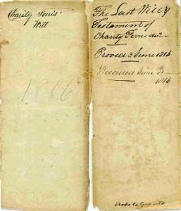 Charity Ferris' 1807 Will
