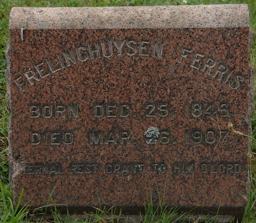 Headstone for Frelinghuysen Ferris