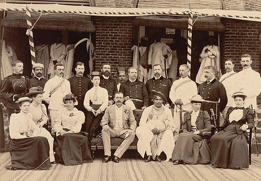 Maharajah of Kohlapur visiting the British residency in 1894