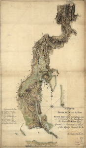 British map of Throgs Neck from the Library of Congress.