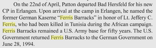 Ferris Barracks in Germany