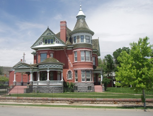 The George Ferris Mansion, a historic home in Rawlins, Wyoming