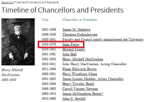 NYU Chancellor Ferris