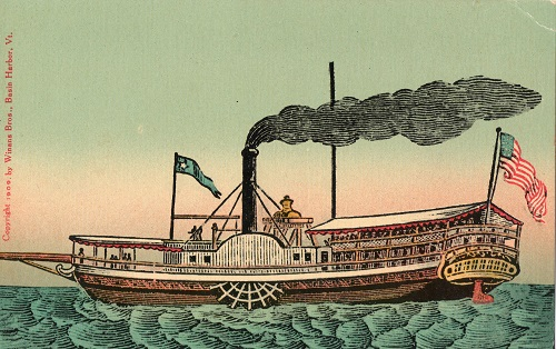 Steamship Vermont, first steam powered vessel on Lake Champlain
