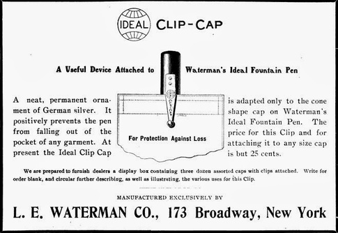 Pen clip invented by William I Ferris