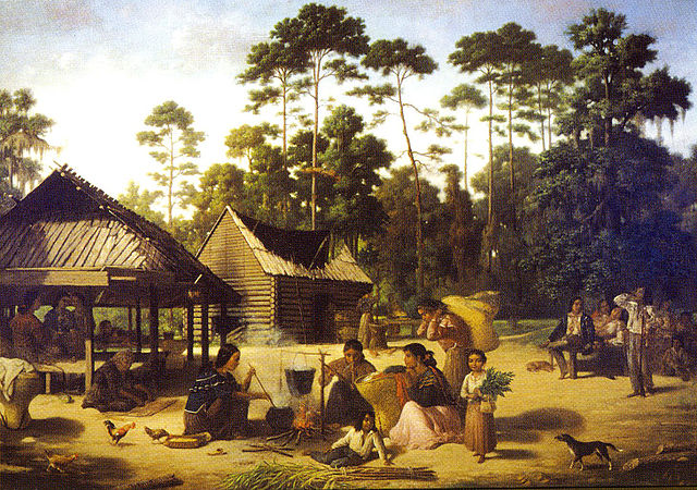 Choctaw Village near the Chefuncte